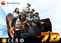 Multiplayer 6 / 9 / 12 Seats 7D Movie Theater / Theme Park Truck Mobile 5D Cinema